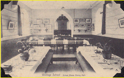 The Dining Hall, taken around 1922 - what were the old photos on the walls?